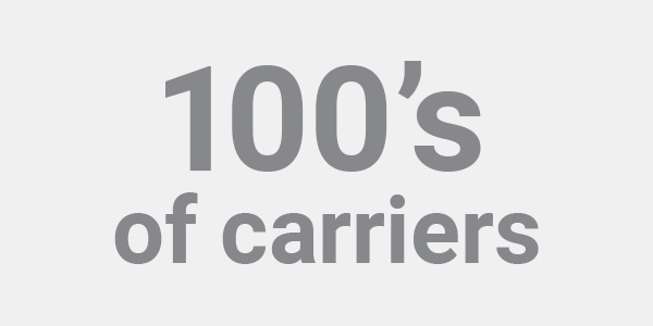 100's of carriers